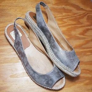 Kanna slingback espadrille sandals, peep toe